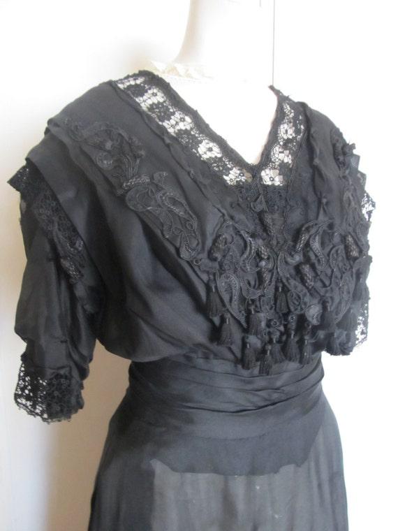 Edwardian Black Dress