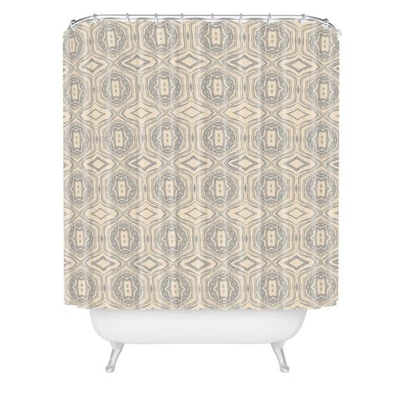 Anthology Of Pattern Seville Marble Grey Shower Curtain