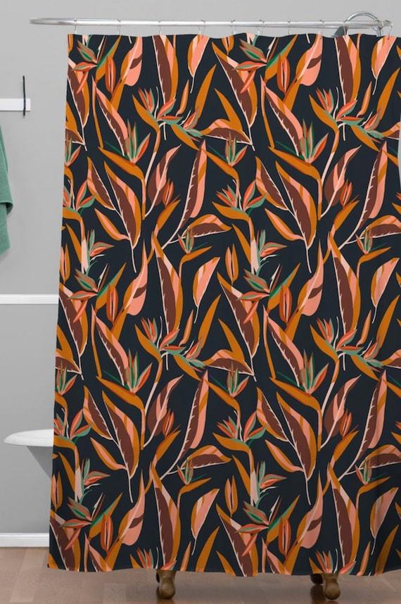 Anthology Of Pattern Elle Bird Paradise Dark Shower Curtain