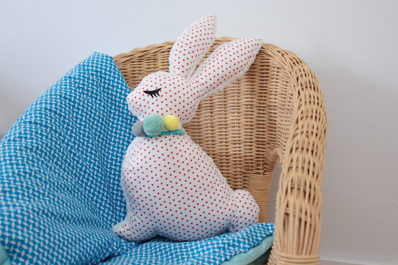 Deco Jaune Et Vert lapin doudou déco choorose x vert cerise (bleu/vert/jaune)