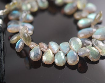 ON SALE 80/% Discount Exclusive Quality labradorite Faceted Heart Briolette 42 pecs 8 Inch Strand Size 7-8 MM Approx