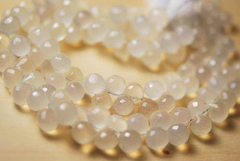 SALE 12 strand of natural chalcedony  onions 26.00 ON SALE 20.00