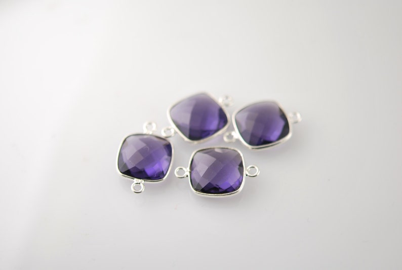 2 purple color matching cushion connectors 16.00