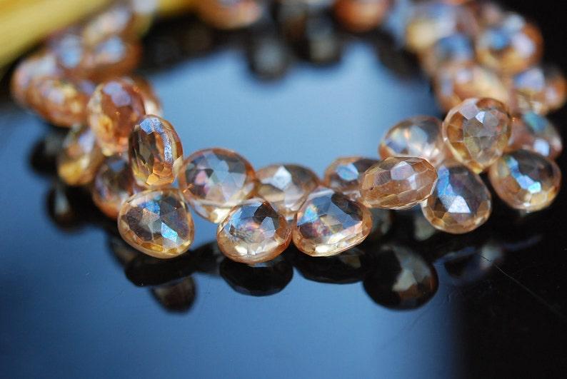 Yellow quartz faceted hearts WHOLESALE PRICE 25.00