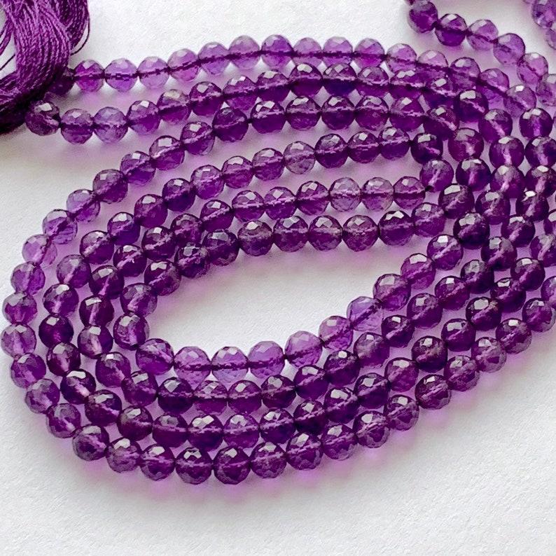 Amethyst round beads