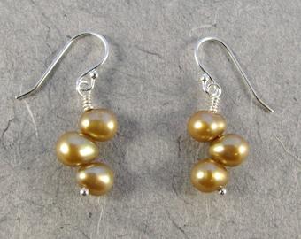 Champagne Pearl Earrings