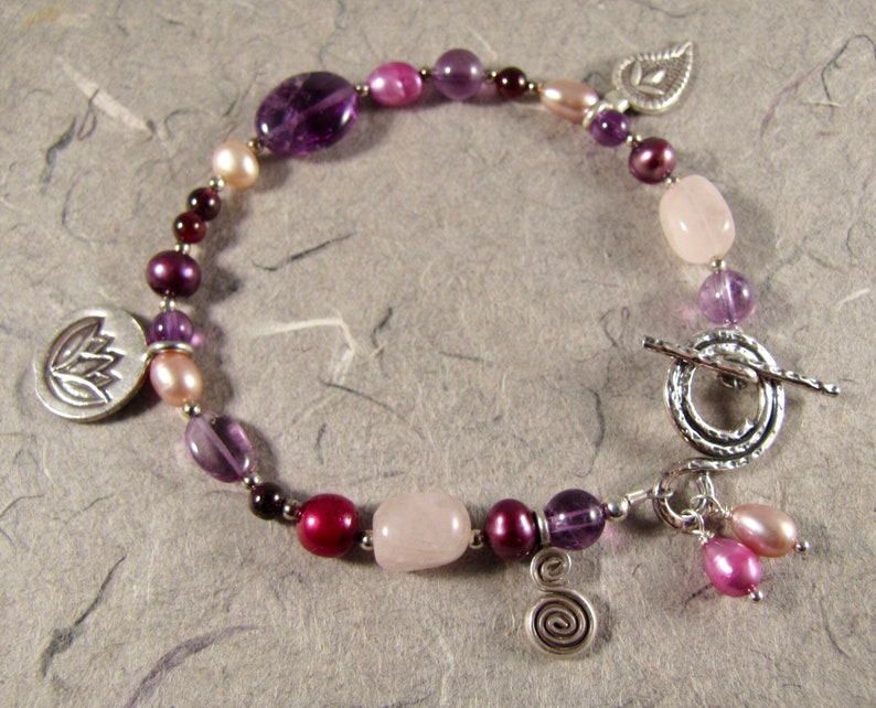 Wine and Roses Bracelet image 0