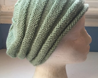 e02fc6048a9 Sage green beanie