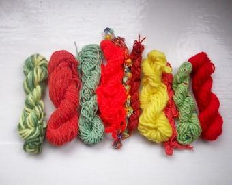 Grab bag assorted yarn 50g GBJA1 orange, green, yellow, SPRING