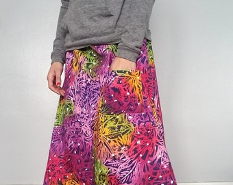 Tropical batik a-line skirt