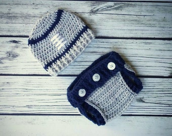 7d0f15850eb Dallas Cowboys Football Outfit - Dallas Cowboys Hat and diaper cover set - Crochet  Baby Hat - Newborn Photography Prop - Infant Photo Prop
