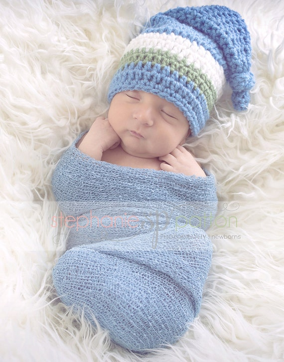 Gehäkelte Babymütze Elf Elf Mütze Häkeln Strumpf Hut 0 3 Etsy