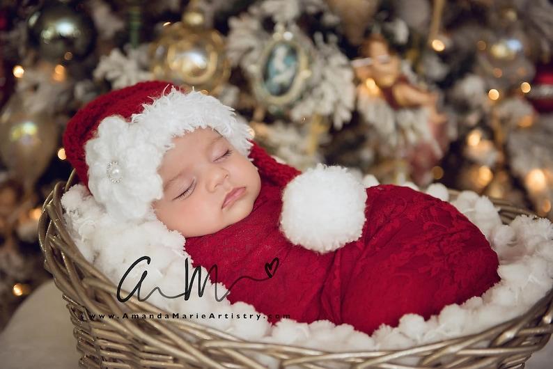 Baby Santa Hat Newborn Santa Hat Long Tail Hat Santa  96b237d1475
