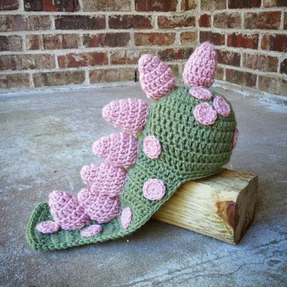 Häkeln Sie Dinosaurier-Stütze-Dragon Hut-Mädchen Baby | Etsy