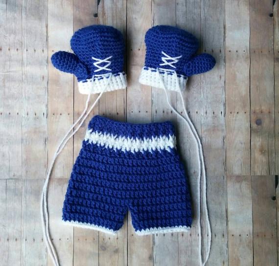 Häkeln Sie Baby Boxen Satz Boxhandschuhe Shorts Baby | Etsy