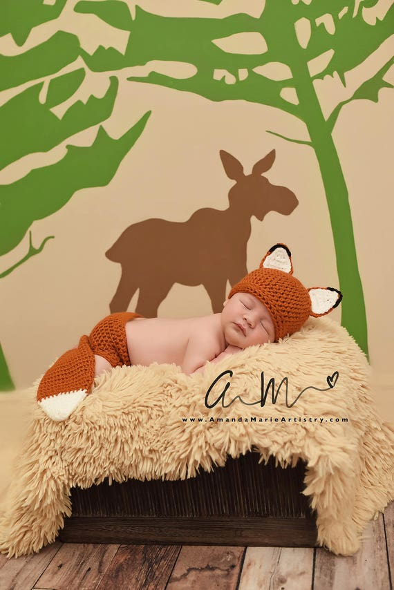 Baby-Fox-Outfit häkeln Fuchs Set Fuchshut Baby Tier Hut | Etsy