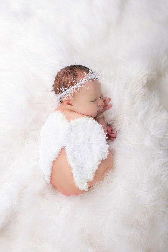 Süß Kind Baby Neugeboren Blume Haarreif Flügel Kostüm Fotografie Stütze