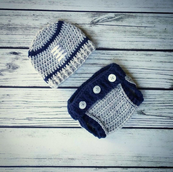 low priced a9e9b 4baa3 Dallas Cowboys Football Outfit - Dallas Cowboys Hat and diaper cover set -  Crochet Baby Hat - Newborn Photography Prop - Infant Photo Prop