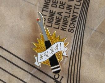 black unpicker sewing enamel pin, crafty enamel pin, hard enamel pin, enamel pin set, unpicker enamel pin, embroidery enamel pin,