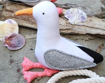Gary & Glen : seagull plush sewing, seagull pattern, seagull toy, seagull plush, seagull softie, felt seagull, seagull toy PDf, seaside toy