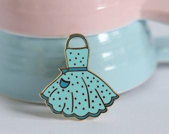 Blue apron, hard enamel pin, enamel pin set, cloisonne, baking enamel pin, lapel pin, pin badge, baking, kawaii enamel pin, retro enamel pin