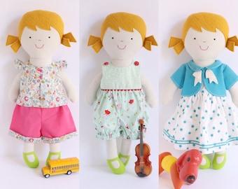 Tilly, rag doll pattern, rag doll pdf pattern, doll clothes pattern, rag doll pdf, rag doll sewing pattern,
