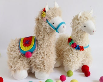 Llama Stuffed Animal Etsy