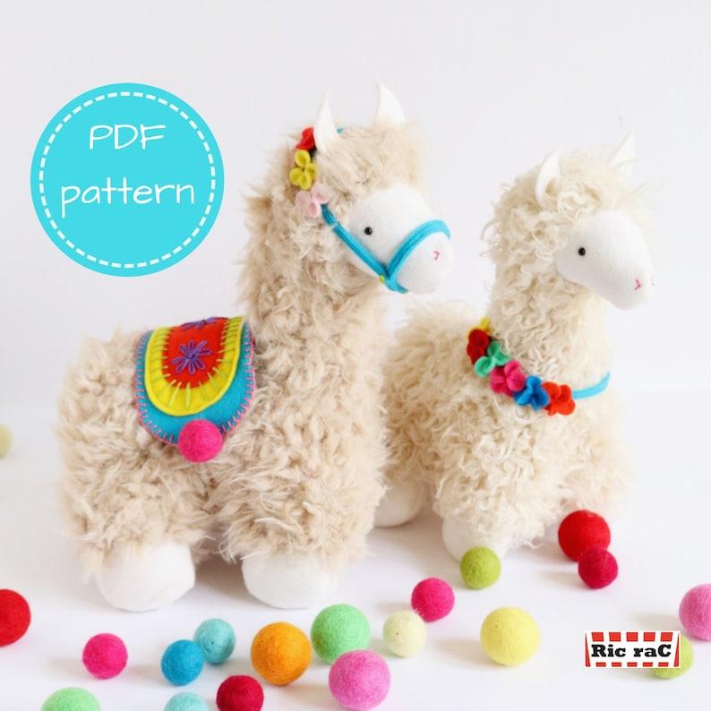 llama pattern llama plush llama PDF pattern stuffed animal image 0