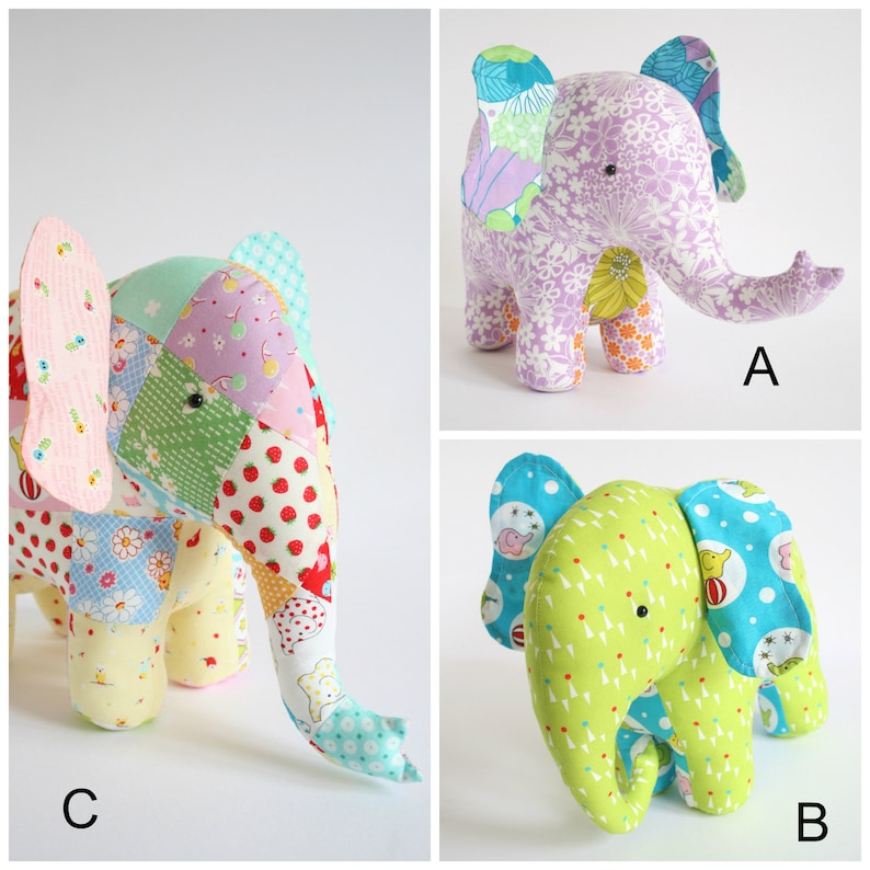 Elephant Sewing Pattern | DIY Stuffed Animal Pattern | Elephant Plush Pattern | DIY Soft Toy