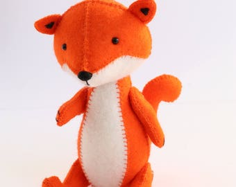 fox sewing pattern, fox pattern, fox PDF pattern, felt fox pattern, plush pdf pattern, fox plush, fox softie, softie pdf pattern,