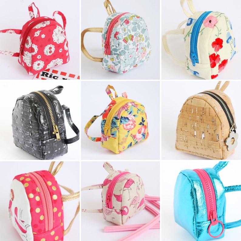 Doll backpack mini backpack pattern digital download image 0