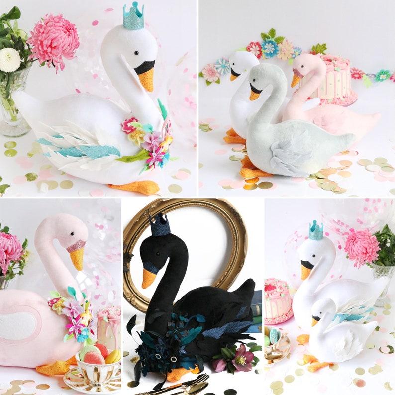 Swan Party swan plush swan sewing pattern black swan image 0