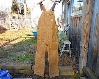 8b97d3ffd0 Vtg Carhartt insulated bib overalls coveralls