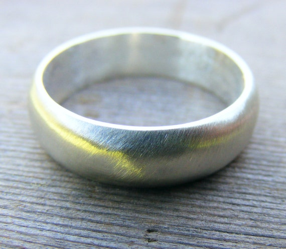 Wedding Engagement Ring, Sterling Silver Satin Matte Finish, Unisex Men Or Women's Ring, Minimalist, Modern, Comfort Fit, Jewelry