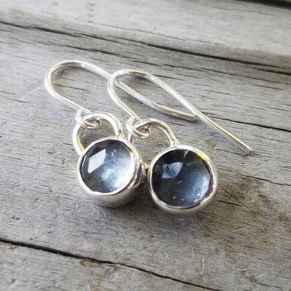 Crystal Dangle Sterling Silver Earrings