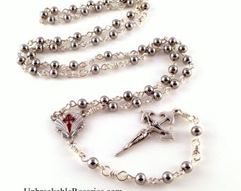St James Camino de Santiago Stainless Steel Bead Rosary by Unbreakable Rosaries