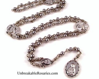 Seven Sorrows of Mary, Servants of Mary Rosary Beads Stainless Steel Beads by Unbreakable Rosaries