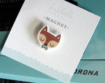 Illustrated Boy Fox Magnet
