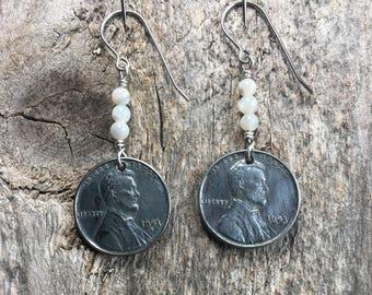 Steel Penny Earrings