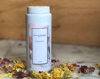 Organic Dusting Powder For Baby To Adult With Organic Calendula And Rose Petals
