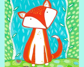"Rusty Fox large fabric block 18"" x 21"""