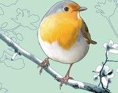 Bonjour, Lil Robin - Fine Art Print