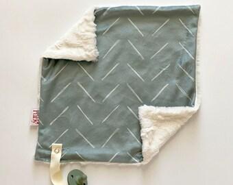 Sage Dash Lovey   binky blanket   lovey blanket   binky blanket   baby blanket   minky blanket   Minky Blanket  