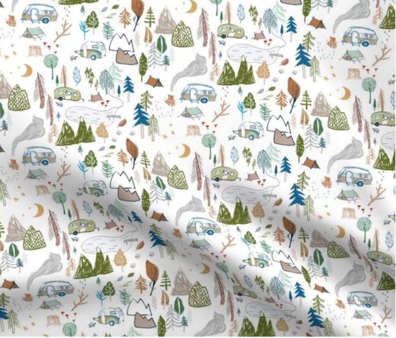 Pre Order Going Camping Organic Gauze Binky Blanket binky blanket muslin lovey Gauze lovey lovey blanket