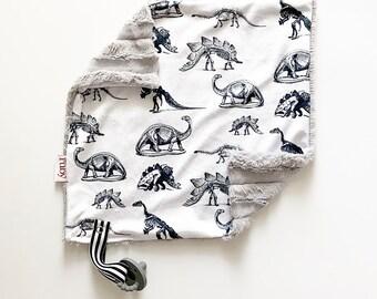 RTS Dino Lovey   Minky Blanket   lovey blanket   binky blanket   baby blanket   Minky Binky Blanket