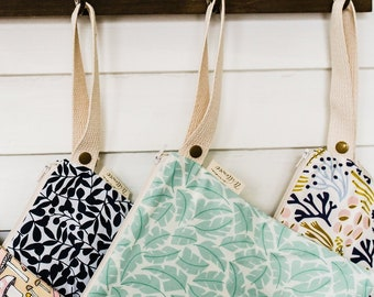Large Leak Proof Organic Cotton Wet Bag in 'Leafscape'
