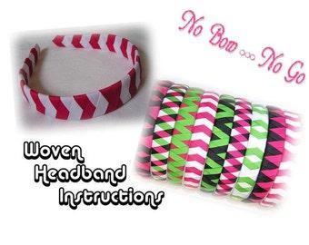 Woven Headband Instructions - 6 original patterns