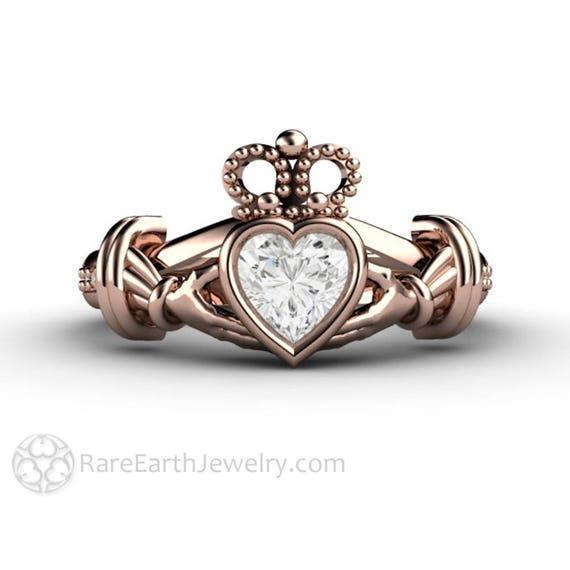 Claddagh Ring Irish Wedding Ring Celtic Design Forever One Etsy