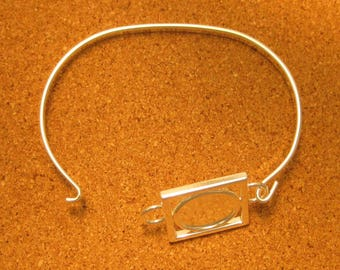 Silver Plated Bracelet Blank - Jewelry Supply - Silver Plated Cuff Bracelet Blank - Jewelry Findings