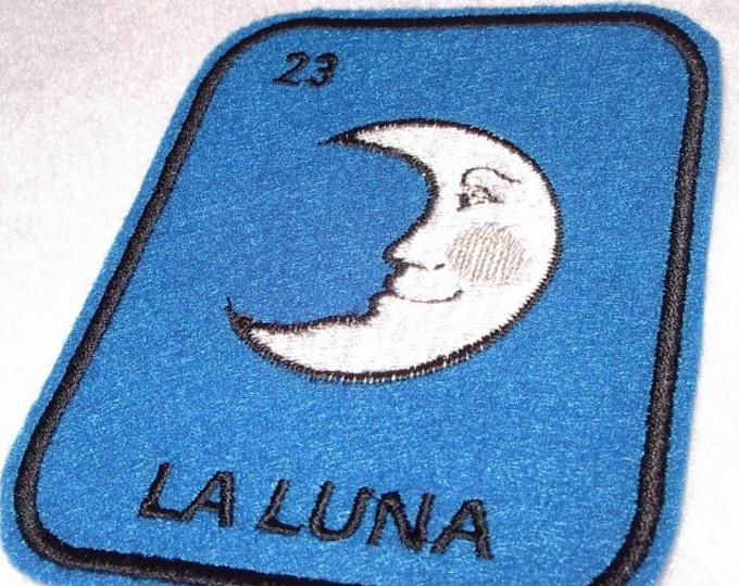 La Luna Loteria Iron on Patch Moon